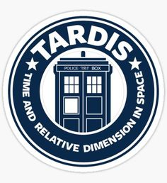 'Tardis Coffee' T-Shirt by Doctor Who Art, Doctor Who Tardis, Dr Who, Die Tardis, Bullet Journal Planner, Starbucks Logo, Tv Display, Cricut Creations, Blue Box