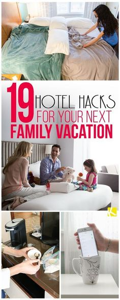 - Vacation Ideas - 19 Clever Hotel Hacks for Your Next Family Vacation Heading on a family vacation? These clever hotel hacks and ideas will help save on food and other expenses. This cheap vacation, especially after Disney Hotels, Disney Trips, Kids Hotels, Budget Travel, Travel Tips, Travel Destinations, Travel Hacks, Travel Ideas, Usa Travel