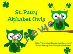 The precious owls are back and ready for St. Patrick's Day! Use these printable alphabet cards to practice upper/lowercase letters. Includes sugges...