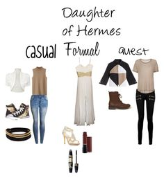 """A Daughter of Hermes"" by a-fangirl-mrc ❤ liked on Polyvore featuring Skechers, WearAll, Vita Fede, La Femme, Caparros, Max Factor, Paige Denim, Samsøe & Samsøe and Hollister Co."