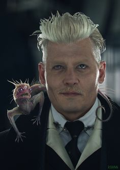 Fantastic Beast 2 : Crime of Grindelwald - Early Chupacabra Concept art by Sam RowanUnused Chupacabra design All images were made for Vfx Supervisor Christian Manz When I was in Framestore Art Dept with HOD Martin Macrae Supervising. Johnny Depp Characters, Johnny Depp Movies, Movie Characters, Gellert Grindelwald, Crimes Of Grindelwald, Fantastic Beasts Movie, Fantastic Beasts And Where, Male Witch, Johny Depp