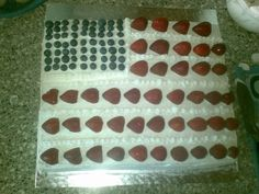 Lemon American flag cake