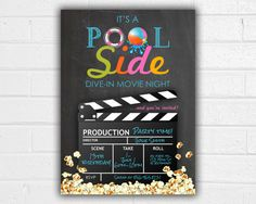 This listing is for a JPEG of a 5x7 pool party birthday invitation. Having a summer party? Popcorn Bar? Poolside celebration? Use this pool party printable to set the tone for your event. Please convo me if youd like the size, fonts, wording, colors, etc. changed. Im happy to work with you to create something unique for your party! At checkout, please include the following information: Birthday girls name, Age to be shown, Date and time of party, location of party, RSVP name and phone…