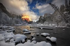 Yosemite 2015 by tonhung63 America Continent, Winter Scenes, Continents, Waterfall, National Parks, Around The Worlds, River, Explore, Gallery