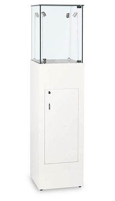 Adjustable Top Side LightsMade with tempered glass panelsBuilt to EU specificationsHigh Gloss Lacquered Finish Fully LockableChrome plated fittingsFantastic quality at an unbeatable priceThis cabinet is delivered fully assembled!External Dimensions400mm (w) x 400mm (d) x 1600mm (h)