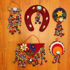 keçe, keçe nazarlık, nazarlık, nazar, sipariş, felt feltro, felt amulet, amulet, turkish eye, design Love Craft, Felt Art, Felt Crafts, Elsa, Peri, Folk, Ornaments, Yandex, Handmade