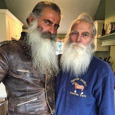 ***** Hair And Beard Styles, Long Hair Styles, Beard Maintenance, Old Man Fashion, Long Hair Beard, Beard Rules, Cheese Lasagna, Grey Beards, Beard Model