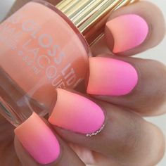 "Summery ombré using @FLOSS GLOSS LTD-""Pony"", @Orly Nails-""Out-Take"" and a Revlon…"