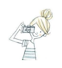 ★彡(*☻-☻*)                                                     girl with camera pencil drawing