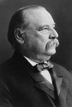 Grover Cleveland  Took Office - March 4, 1885. Left Office - March 4, 1889. The twenty second and twenty fourth president, Democratic party. His vice president was Thomas A. Hendricks until 1885, after that, he had no vice president (first presidency). Adlai Stevenson I (second presidency)