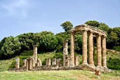 Temple of Antas, Italy. Built in the 5th century BCE, the temple was renovated and enlarged several times by the Carthaginians, under Augustus, and finally under Caracalla (213-217 CE)
