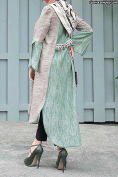 مدل مانتوهای جدید و شیک رسمی Abaya Fashion, Muslim Fashion, Modest Fashion, Fashion Dresses, Iranian Women Fashion, Korean Fashion, Womens Fashion, Abaya Designs, Blouse Designs