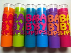Baby Lips - these are absolute must haves! Super pigmented for a balm and uber moisturizing!