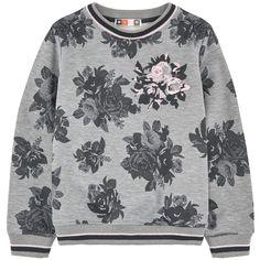 Printed fleece sweatshirt, MSGM girls FW15