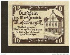 A44. Austria, Gutschein der Marktgemeinde WIESELBURG an der Erlauf - 10 Heller 1920