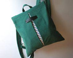 Convertibile Zaino Messenger bag borsa di tela a righe borsa Chic donna College bag a mano minimalista leggero bag regalo per lei