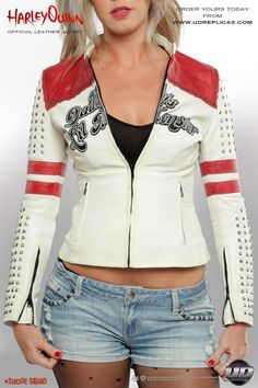 Harley Quinn - Official Leather Jacket Image 2