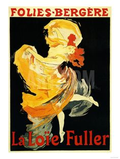 Paris, France - Loie Fuller at the Folies-Bergere Theatre Promo Poster Art Print by Lantern Press at Art.com