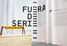 CentroCentro. Madrid / 'Fuera de Serie' exhibition graphics. 2013. Photography: Guillem Ferran.  a beautiful and simple execution of designe