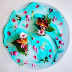 """3,359 Likes, 38 Comments - Chef's Roll, Inc. (@chefsroll) on Instagram: """"Food art. What are your thoughts? Turquoise Lake by @chef_frankazulay #chefsroll #rollwithus"""""""