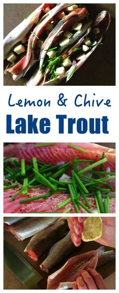This Flavourful Lake Trout Recipe with Lemon, Chives is Delicious. Wrapped in a Foil Parcel with Vegetables.