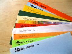 Öffnen wenn… – Briefe sind eine tolle Geschenkidee für einen lieben Menschen, dem ihr das immer schon man sagen wolltet. Im folgenden findet ihr einige Anregungen und genauere Erklärung…