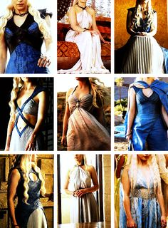 Daenerys Targaryen + Dresses - Game of Thrones Game Of Thrones Facts, Game Of Thrones Costumes, Game Of Thrones Funny, Got Costumes, Movie Costumes, Halloween Costumes, Daenerys Targaryen Dress, Khaleesi, My Champion