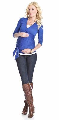 NEW! Lilac #Maternity Wrap Around Bella Maternity Top - A super stylish #maternitytop