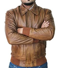 Men's trendy jackets can be a vital part of every single man's set of clothing. Men need jackets for a variety of occasions as well as some weather conditions. Men's Jacket Fashion Look. Real Leather, Leather Men, Distressed Leather Jacket, Men Closet, Stylish Jackets, Casual Jackets, Stylish Men, Leather Collar, Jacket Style