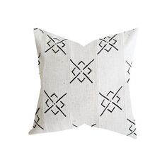 The pillow front is made from authentic African Mud Cloth, and the back is a natural, flax colored cotton. Please note that because the Mud Cloth is made by han