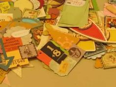 How I made my embellishments with scraps paper and coffee filters.. - YouTube