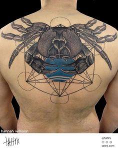 Hannah Willison Tattoo | UK / Traveling - Metatron's Crab  tattrx.com/artists/hannah-willison