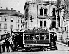 Electric tramway - Oslo, Norway 1890s Oslo, Norwegian People, Kingdom Of Sweden, Hedda Gabler, Beautiful Norway, Train Stations, Trondheim, Scenic Design, School Photos