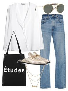 """Untitled #22166"" by florencia95 ❤ liked on Polyvore featuring Brock Collection, MANGO, Études, Ray-Ban and Monki"