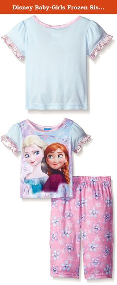 Disney Baby-Girls Frozen Sisterly Love 2-Piece Set, Blue, 24 Months. What could be sweeter than a little sisterly love your little girl will look oh-so-precious in this two piece pajama set with ruffle hems and prints of sparkling flowers and wintery filigree. Perfect for sleeping and lounging.