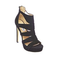 Free Shipping - Steve Madden Spycee Black Strappy Heels omg i have these from payless exactly the same