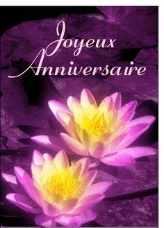 Carte Joyeux anniversaire et fleurs pour envoyer par La Poste, sur Merci-Facteur ! #carte #anniversaire #fête #invitation #jouyeuxanniversaire