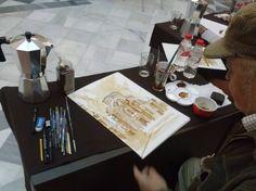 Pinturas hechas con café