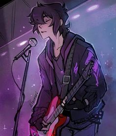 Keith as a rock and roll singer with his red guitar from Voltron Legendary Defender Voltron Klance, Voltron Memes, Voltron Fanart, Form Voltron, Voltron Ships, Voltron Cosplay, Voltron Comics, Percy Jackson, Fan Art