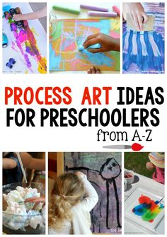 These process art ideas are perfect to use in the preschool classroom or at home. There's one for every letter of the alphabet!