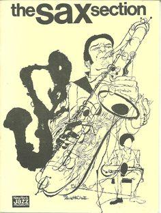 Program Cover-exhibit at New York Jazz Museum (1974) Illustration by David Stone Martin.