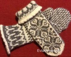 Вязание спицами. Варежки со скандинавским орнаментом