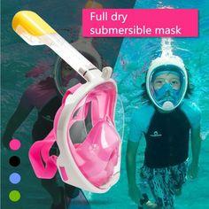 Children Full Face Snorkeling Mask Set Diving Underwater Swimming Training Scuba Mergulho Snorkeling Mask For Camera Underwater Swimming, Drain Away, Camera Prices, Swim Training, Pool Water, Full Face, Natural Disasters, Snorkeling, Diving