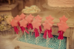 Magic wand cake pops