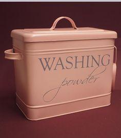 Kylpyhuone ja sauna - Metalliastia Washing Powder vaaleanpunainen - Hyvän Tuulen Puoti