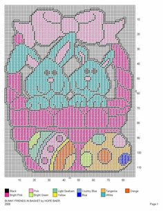 BUNNY FRIENDS AND BASKET 2
