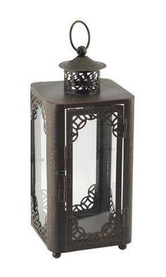 Lámpara para velas con cristal grabada #decoracion #velas #incienso #regalos