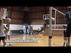 Line-Tip-Angle-Tip Volleyball drill