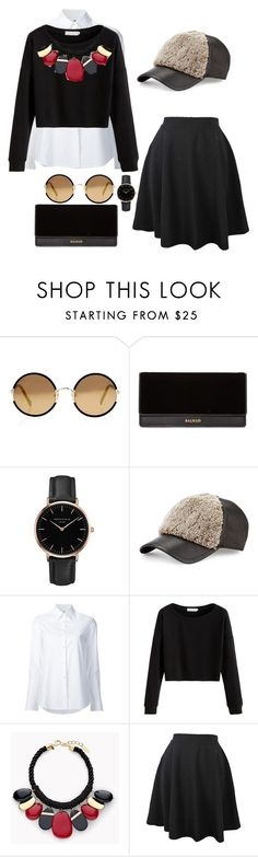 """""""Untitled #48"""" by lexi6493 ❤ liked on Polyvore featuring Sunday Somewhere, Balmain, Topshop, rag & bone, Misha Nonoo and Chico's"""