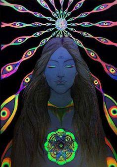 Nosso  Feminino Sagrado:     Do centro do meu coração envio fachos de luz a...